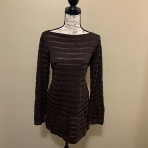 Tommy Bahama Women's Brown Sheer Dress Medium